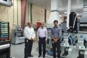 L to R: Ranesh Bajaj, director, Vinsak with Mathews Oommen, general manager and Toji Oommen, manager at Aquarius Printing Press in the UAE