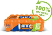AG Barr has introduced new packaging for its iconic Scottish drink Irn-Bru using the entirely recycled wrap