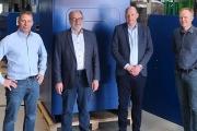 R-L: Karsten Klein (COO), Leif Hansen (Senior Advisor), Ulrik Hansen (CEO), and Karsten Kejlhof (CCO) at Lundberg Tech