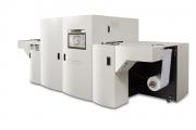 The MJP 13LXV full color LED UV inkjet press specialises in label printing
