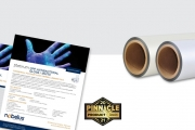 Nobelus as been recognized for its PlatinumOPP Antibacterial thermal laminate film by Printing United Alliance