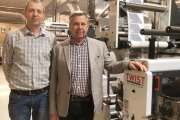 L-R: Péter Markό and Janos Markό with Omet X6.0 press installed at Druk-ker
