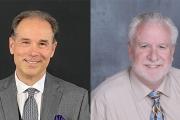 L-R: Steve Klaric, Canadian regional sales manager; Wayne Fleshman, regional sales manager for the Western Region at RM Machinery