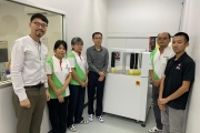 Jason Lim, Malaithip Janthed, Virunphat Supasirirujirang, Chairat Teekhasaenee (the new GM), Khoo Niam Su and Koay Teong Siong with the new Skop inspection machine