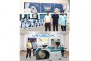 Vinsak has installed a Lombardi Synchroline 430 press along with Vinsak USAR 430-Universal slitter rewinder at the Aarya Print Pack, Mumbai.