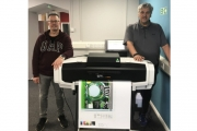 Left to Right: Waldo Ltd Colour Management Technician Darren Havercroft and Managing Director Phil Walmsley with the CGS Oris and Mutoh proofing solution