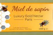 Food: 'Miel de Sapin', a honey jar label Neo-Color