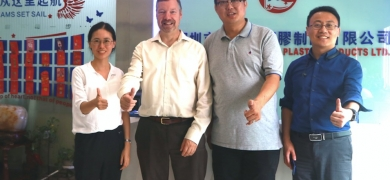 L-R Yolanda Wang, L&L; Andy Thomas-Emans, L&L; Gong Zhen, general manager of Ken Hung Hing; Kevin Liu, Labelexpo
