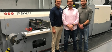 L-R: Andy Staib, Tom Staib and TJ Staib of DWS Printing