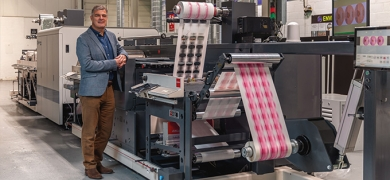 Olympus Print Group invested in pioneering installation of GEW's LeoLED UV system and a 12-color Nilpeter-Domino hybrid press with in-line foiling