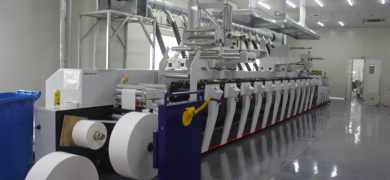 Mark Andy P5 flexo press at Super Labels