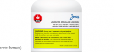 An example of a cannabis label provided by Jones Packaging © Jones Packaging Inc, 2019
