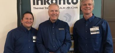 Pictured L-R: Olivier Moreau, product director; Chris Walker, vice-president and general manager of Armor USA; Alejandro Cuomo, sales director for Central and South America