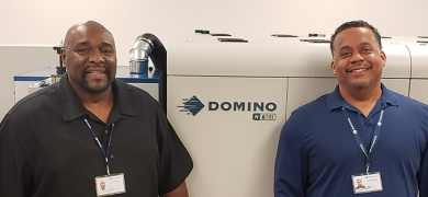 Glen Hayden and Ernie Wilson, new technical support analysts at Domino