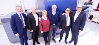 Zaia family with the new Konica Minolta AccurioJet KM-1 inkjet B2+ sheetfed UV color inkjet digital press