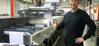 Eirik Bergh with the new press