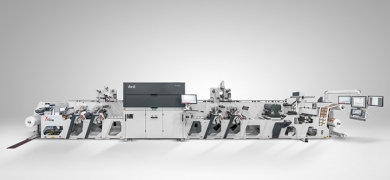 Omet XJet, hybrid flexo and digital in-line printing press