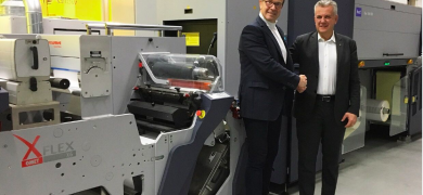 Durst and Omet partnered for the XJet hybrid press