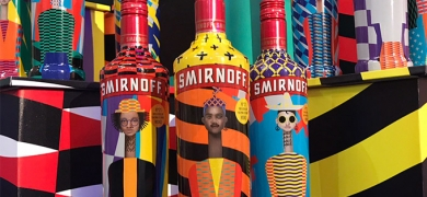Berkshire Labels Smirnoff labels printed on HP Indigo technology
