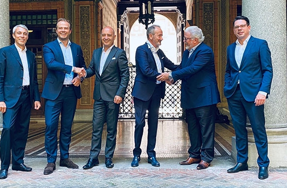 L-R: Fabrizio Gualdi, Adrian Tippenhaeur, Andrea Cerisara, Daniele Grotto, Romeo Kreinberg and Herbert Doleisch