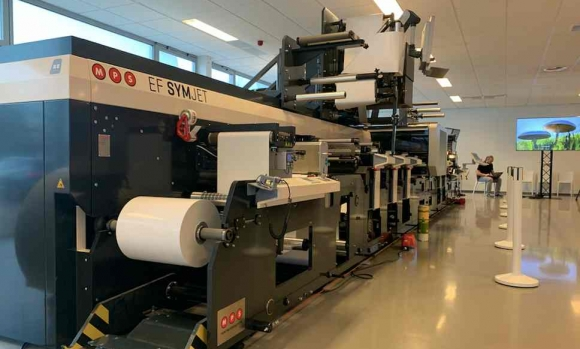 MPS' EF Symjet press was used in combination with Cerm MIS and Esko technologies to demonstrate potential savings