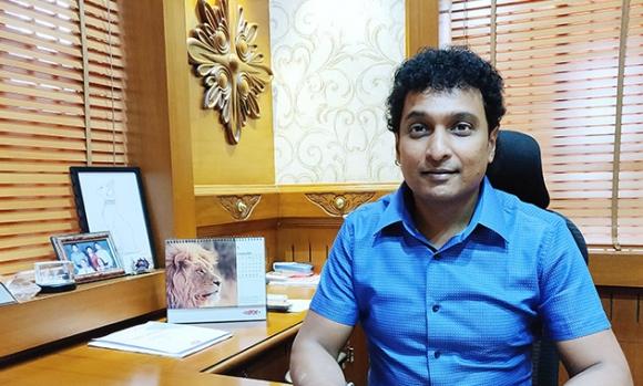 Jaichandra, director of Veepee Graphic Solutions, at his office in Bengaluru