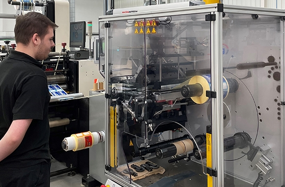 Aztec Label has installed two A B Graphic International ECTR turret rewinders to boost its productivity