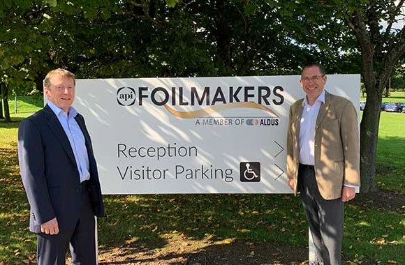 (L-R) Will Oldham, chairman and Kenny Gilmour, managing director of API Foilmakers