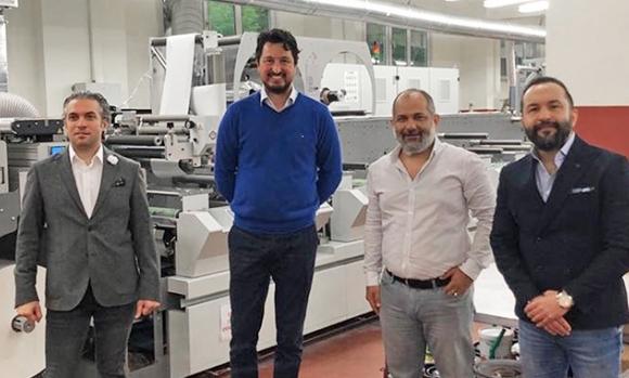 (L–R) Mustafa Başıbüyük, CFO of Çiftsan Etiket & Ambalaj; Mert Gönenç, CEO of IMEKS Group; Erkan Yolgun, COO and Hakan Yolgun CEO of Çiftsan Etiket & Ambalaj