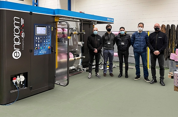 Emsur installed an Enprom eS2T140 nonstop double turret slitter rewinder at its Polish plant in Warsaw