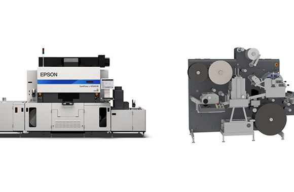 Epson has teamed up with Grafisk Maskinfabrik to offer its SurePress L-6534VW digital LED UV inkjet label press in combination with GM's Econ finisher as an end-to-end technology