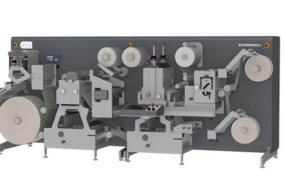 Grafisk Maskinfabrik (GM) DC350Flex compact integrated label finisher