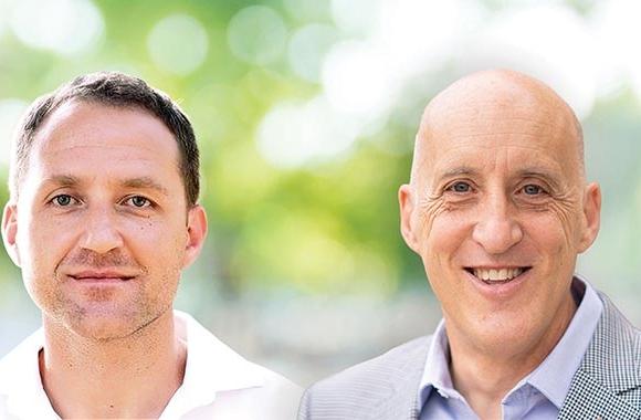 (L-R) Pasha Solel, senior business development manager for Flexible Packaging, and Gianluigi Rankin, global marketing manager for Digital Printing, Michelman