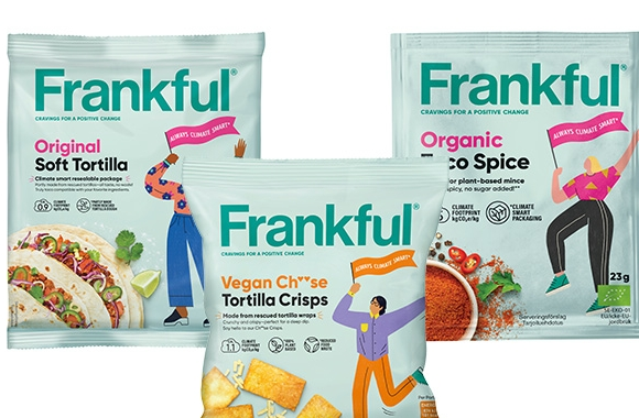 Mondi has created three sustainable, high-performance packaging products for a new plant-based range Frankful from a Swedish food manufacturer Orkla