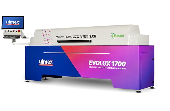 Ulmex has launched Evolux, an eco-friendly concept for laser cleaning of anilox rollers, designed to be integrated into the printing process