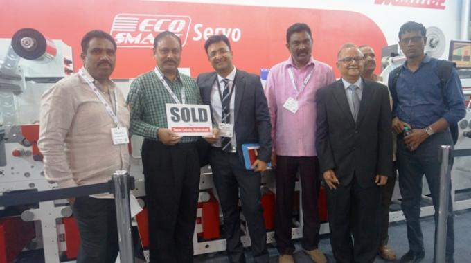 Hyderabad-based printer Team Labels has purchased a Multitec Ecosmart Servo, a deal signed on the second day of Labelexpo India 2016