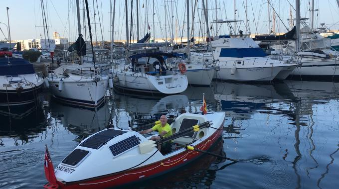 Mike Burton aims to raise more than £30,000 for Macmillan Cancer Support through his 3,000 mile solo Atlantic crossing