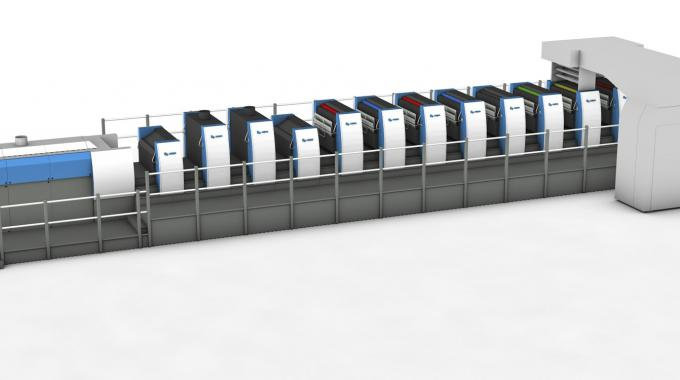 The 17-unit Rapida 106 machines include a coating tower, two drying units, 10 printing units, double-coating equipment and triple delivery extension