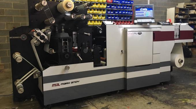 Mark Andy Digital One, a 4-color EP label press, was selected to bring additional capability, specifically in the digital and short run efficiency, to Imprinting Systems