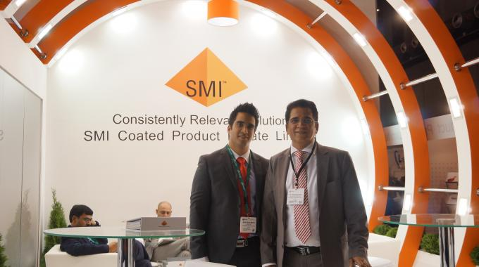 Ajay and Rohit Mehta of SMI Coated Products at Labelexpo Europe 2013