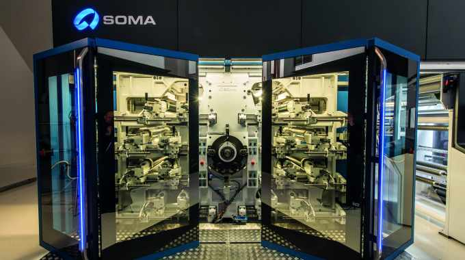 Soma with its Optima forms part of package printing's extended presence at Labelexpo Europe 2015