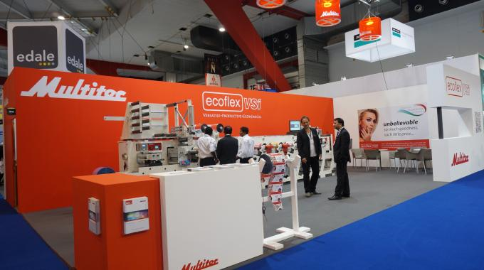 The Multitec stand at Labelexpo Europe 2013