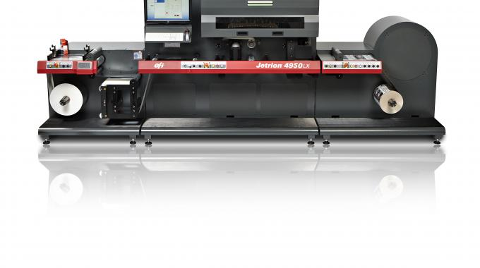 EFI is showcasing its Jetrion 4950LX LED press at Labelexpo Europe 2015