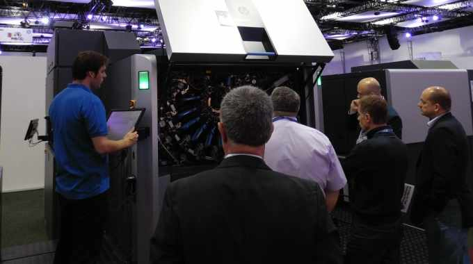 HP Indigo had 20000 and 30000 presses on show at Dscoop Open