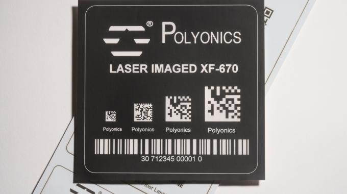 Polyonics is introducing a family of black and white polyimide and aluminum-based laser markable label materials at Labelexpo Europe 2015