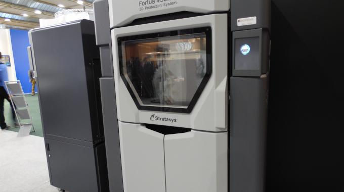 A Stratasys 3D printer in the Smart Packaging Lab at Labelexpo Europe 2015