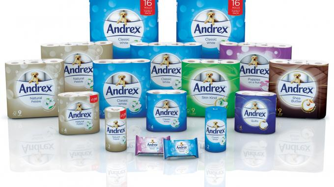 The iconic Andrex Puppy graphic across the entire range in conjunction with high-definition flexographic printing allowed Andrex to improve and better co-ordinate its brand management