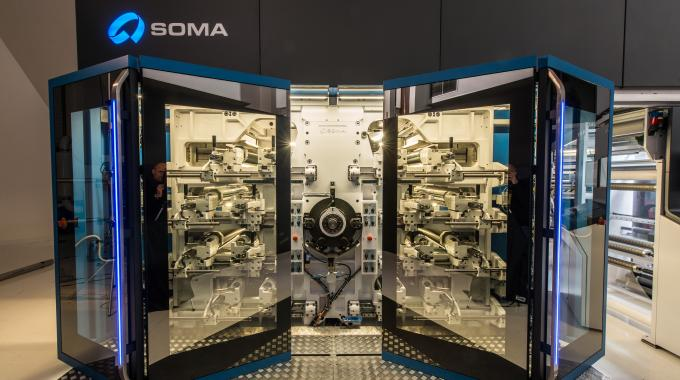 The Soma Optima 820 CI flexo press will be running on the show floor at Labelexpo Europe 2015