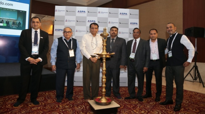 ASPA members including Suresh Prabhakar Prabhu and Honourable Justice Manmohan Sarin inaugurating The Authentication Forum