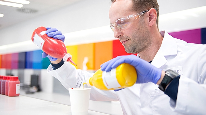 Laboratory testing at Flint Group's Global Colour Centre